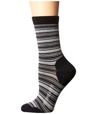 Icebreaker Lifestyle Ultra Light 3Q Crew Stripe Tease 1 Pair Pack Black Twister Heather Blizzard Heather Women's Crew Cut Socks Shoes Multi