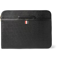 Thom Browne Pebble Grain Leather Document Holder Black