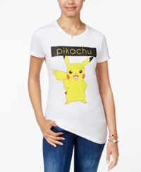 Freeze 24 7 Juniors' Pokemon Pikachu Graphic T Shirt White