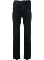Gold Sign Goldsign Relaxed Straight Cut Jeans Black