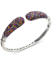Effy Collection Balissima By Effy Multi Color Sapphire Bangle Bracelet In Sterling Silver 7 1 2 Ct. T.W.