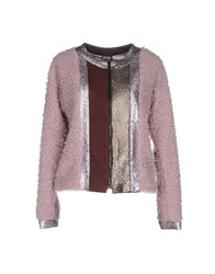 Paola Frani Pf Coats And Jackets Faux Furs Pink