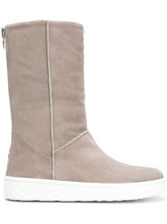 Moncler Flat Ankle Boots Nude And Neutrals