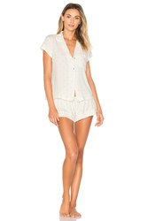 Eberjey Giving Palm Short Pj Set Ivory