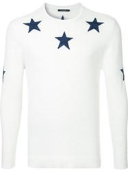 Guild Prime Stars Knit Sweater White
