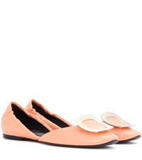 Roger Vivier Leather Ballerina Shoes Pink