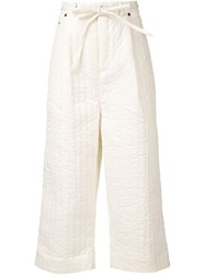 Craig Green Padded Wide Leg Trousers White