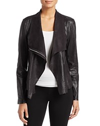Calvin Klein Distressed Draped Lapel Jacket Black