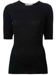 Dion Lee Pinacle Knit T Shirt Black