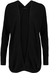 Karl Lagerfeld Ronja Cotton And Cashmere Blend Cardigan Black