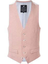 Loveless Button Up Vest Pink
