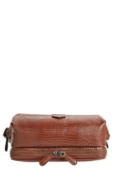 Ted Baker London Chocks Leather Dopp Kit Tan