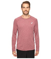 Asics Mesh Long Sleeve Crew Pomegranate Men's Clothing Pink