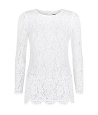 Whistles Lace Tunic Top White