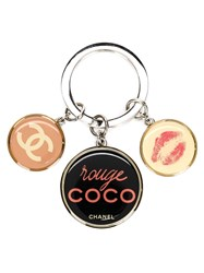 Chanel Vintage 'Rouge Coco Novelty' Keyring Pink And Purple