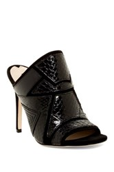 Via Spiga Tarot Peep Toe Mule Black