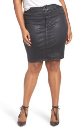 Melissa Mccarthy Seven7 Plus Size Women's Coated Denim Pencil Skirt