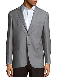 Yves Saint Laurent Wool Long Sleeve Sportcoat Light Grey