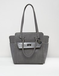 Marc B Structured Winged Tote Bag Grey