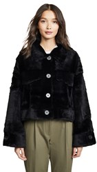 Adrienne Landau Rabbit Jacket Black