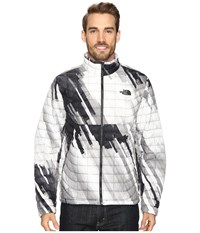 The North Face Thermoball Full Zip Jacket Tnf Black Strata Print Men's Coat White