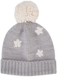 The Elder Statesman Cashmere Pom Pom Beanie Grey