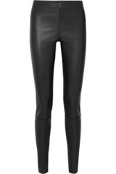 By Malene Birger Elenasoi Stretch Leather Leggings Black