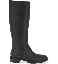 Lanvin Military Leather Knee Boots Black