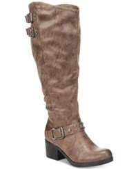 Carlos By Carlos Santana Cara Tall Riding Boots Women's Shoes Taupe Wide