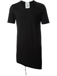 Lost And Found Rooms Asymmetric Hem Long T Shirt Black