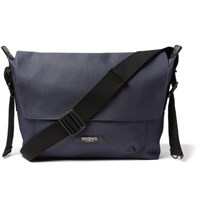 Brooks England Crosby Coated Cotton Canvas Messenger Bag Blue