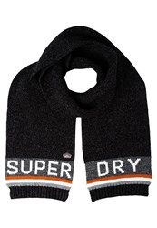 Superdry Scarf Black Burnt Orange