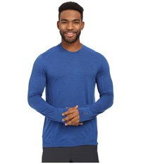 Smartwool Nts Micro 150 Pattern Crew Neck Bright Blue Men's Long Sleeve Pullover