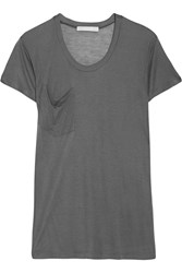 Kain Label Modal And Silk Blend Jersey T Shirt Gray