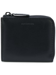 Norse Projects Mini Zip Around Wallet Leather Black