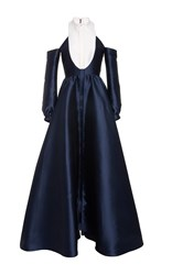 Alexis Mabille Cut Out Shoulder Gown Navy