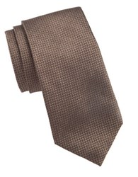 Vince Camuto Textured Silk Tie Brown