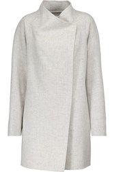 Vince Brushed Wool Blend Coat Ivory