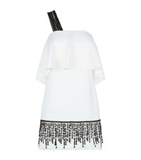 Pinko Avril Macrame Trim Dress Female White