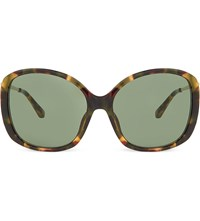 Prabal Gurung Pg23 Tortoise Shell Oversized Sunglasses Tortoise And Gold