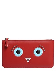 Fendi Faces Leather Coin Purse