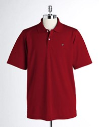Callaway Golf Polo Shirt Beet Red