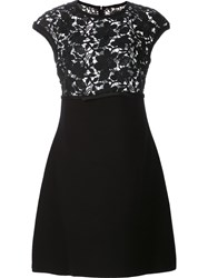 Giambattista Valli Flared Knitted Dress Black