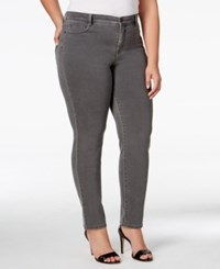 Styleandco. Style Co. Plus Size Tummy Control Slim Leg Jeans Only At Macy's Whisper Grey