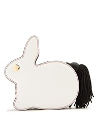Hillier Bartley Bunny Leather Clutch Black White