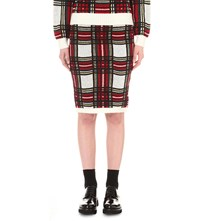 Izzue Checked Knitted Skirt Red Check