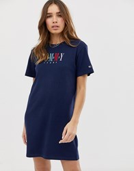 Tommy Jeans Graphic T Shirt Dress Black