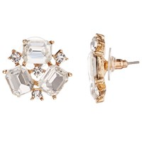 John Lewis Cluster Cubic Zirconia Stud Earrings Gold