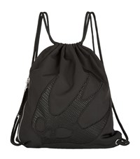 Mcq By Alexander Mcqueen Swallow Drawstring Bag Unisex Black