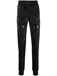 Plein Sport All Over Logo Track Pants Black